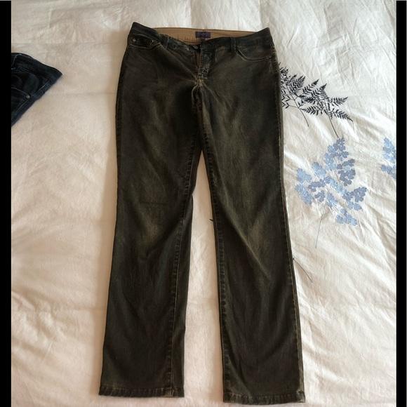 NYDJ coated brown denim petite length